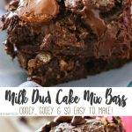 Milk Dud Cake Mix Bars are just another yummy bar recipe that is a MUST MAKE! Incredibly simple & easy desserts don't get any more delicious than this.