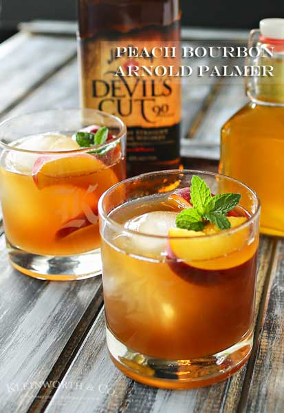 Peach Bourbon Arnold Palmer - Take an Arnold Palmer & add bourbon & peach liqueur for a perfect summer cocktail.