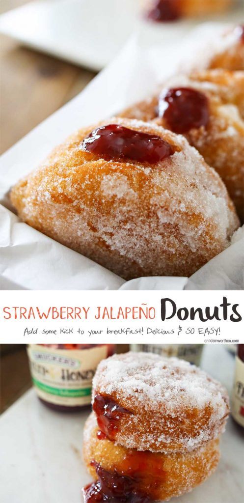 Strawberry Jalapeño Donuts - delicious homemade donuts