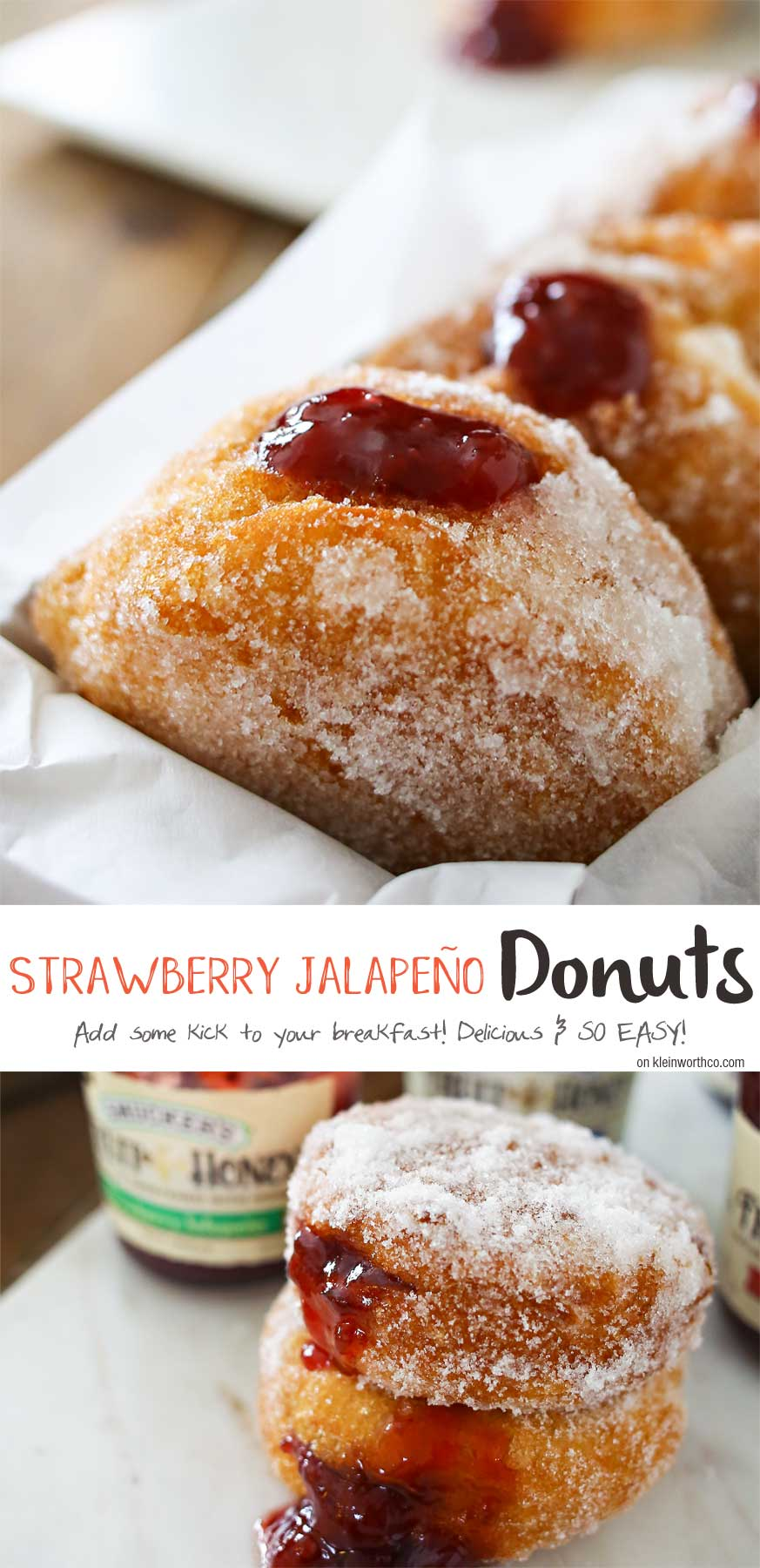 Easy Strawberry Jalapeño Donuts - delicious homemade donuts