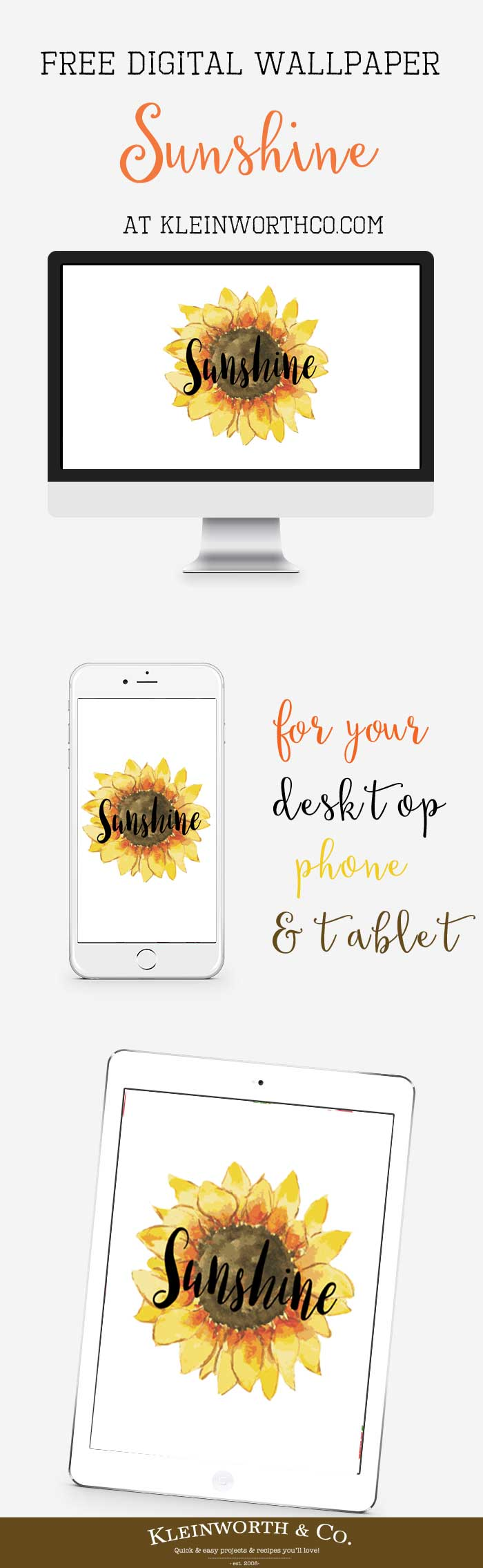Sunshine Free Digital Wallpaper