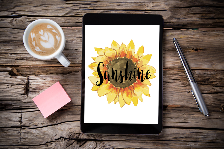 Sunshine Digital Wallpaper : Free Download