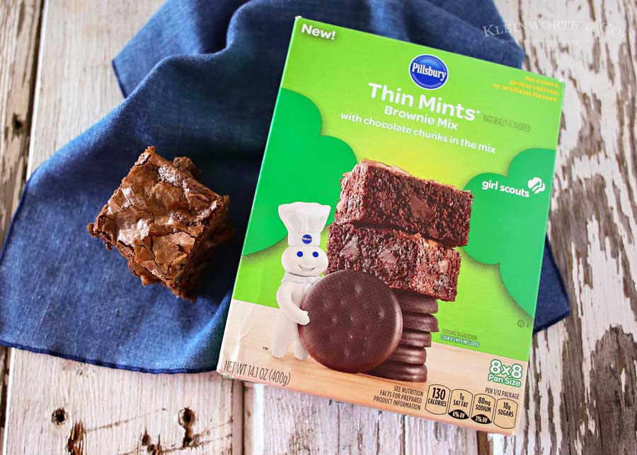 Easy Thin Mints Brownies- so good.,