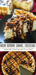 Bacon Bourbon Caramel Cheesecake