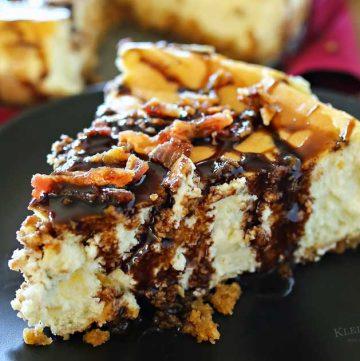 Bacon Bourbon Caramel Cheesecake