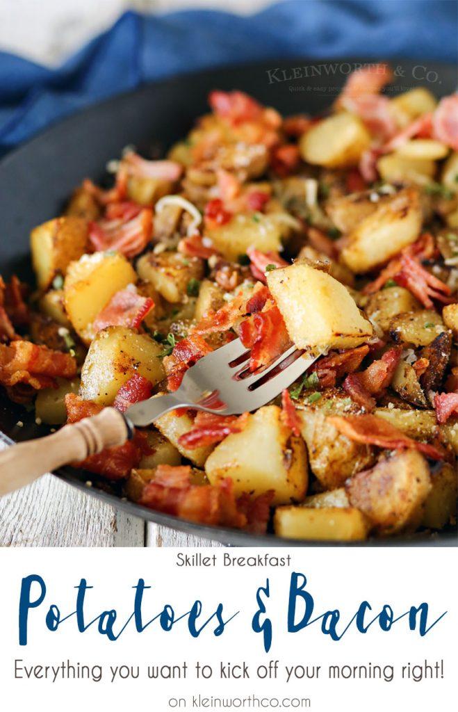 Skillet Breakfast Potatoes & Bacon