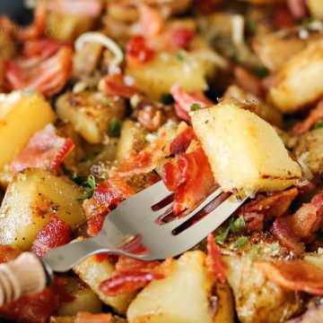 Skillet Breakfast Potatoes & Bacon