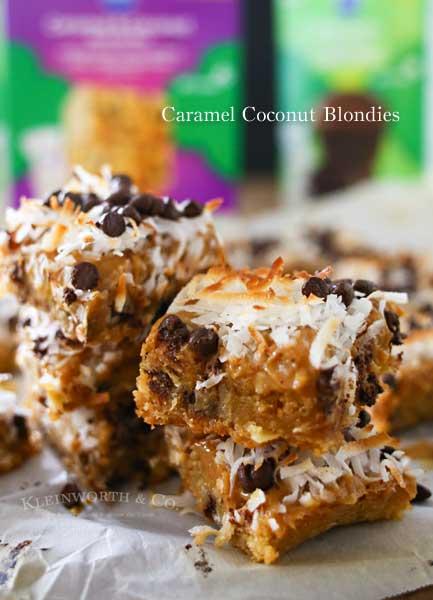 Caramel Coconut Blondies