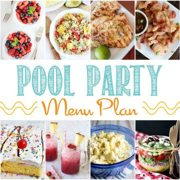 Pool party menu- yummy!