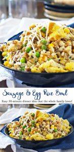 Sausage Egg Rice Bowl