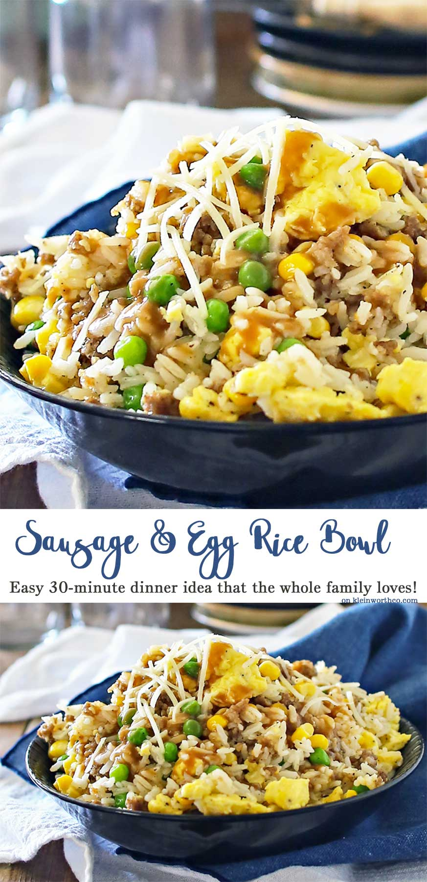 Sausage Egg Rice Bowl