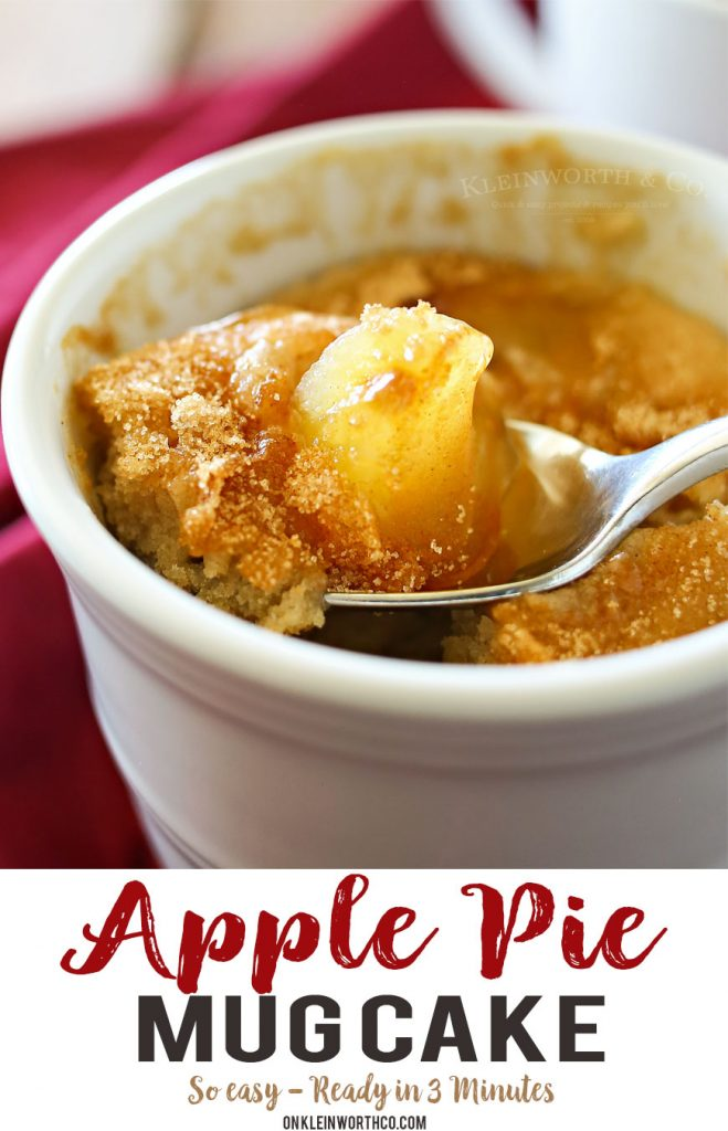 Apple Pie Mug Cake