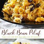 Black Bean Pilaf Recipe