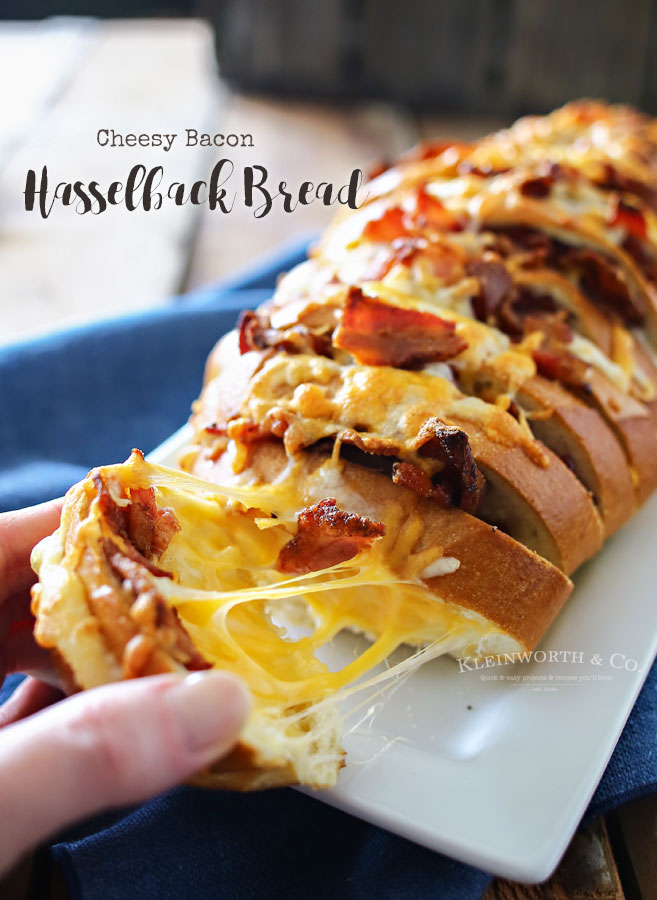Cheesy Bacon Hasselback Bread