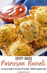 Crispy Baked Parmesan Ravioli