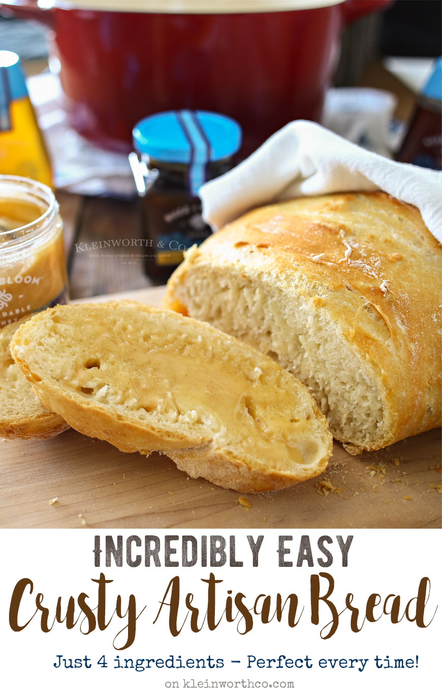 Incredibly Easy Crusty Artisan Bread