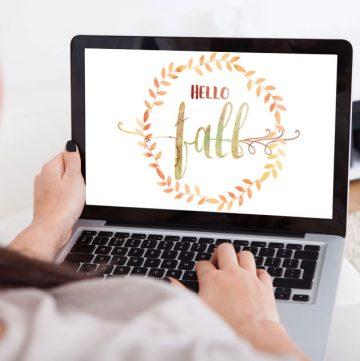 Hello Fall Digital Wallpaper