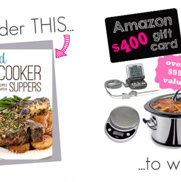 Real Food Slow Cooker Suppers: Cookbook Pre-Order Giveaway