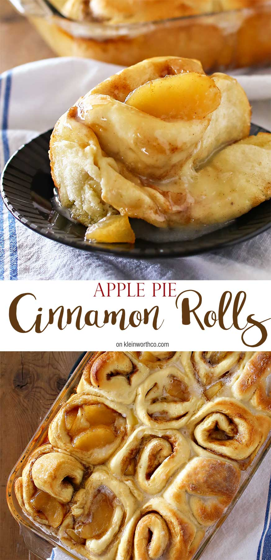 The absolute best Apple Pie Cinnamon Rolls