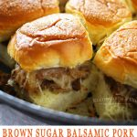 Brown Sugar Balsamic Pork Skillet Sliders