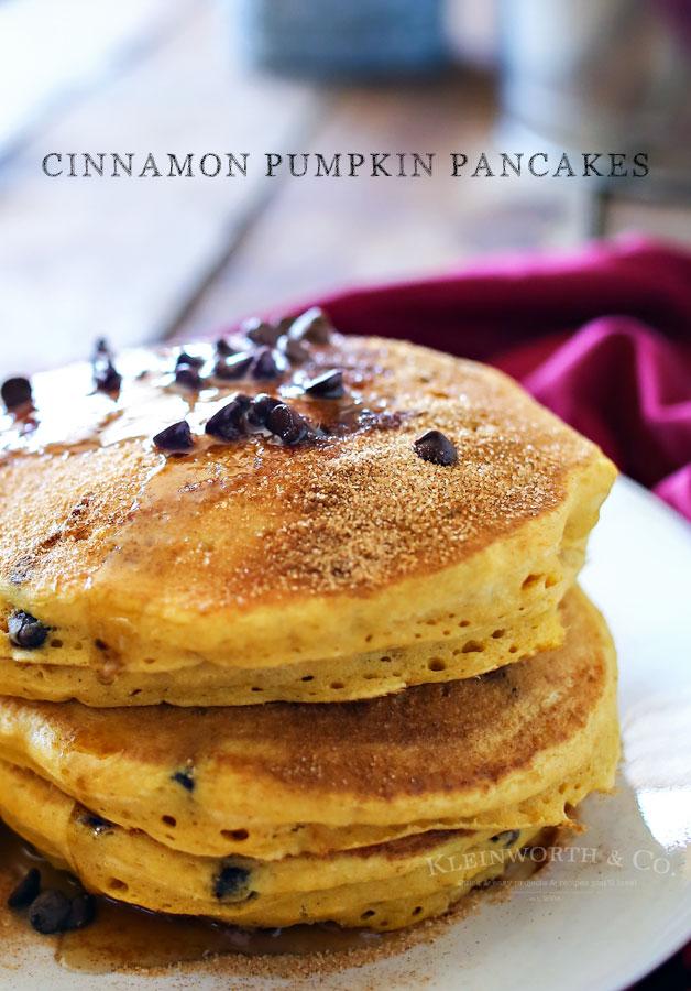 Cinnamon Pumpkin Pancakes - Kleinworth & Co