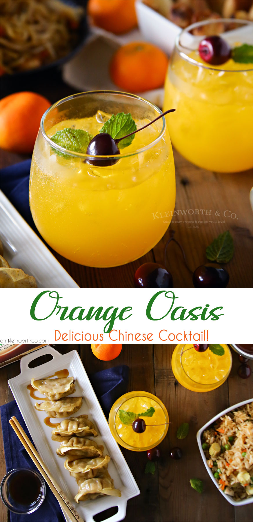 Orange Oasis Chinese Cocktail