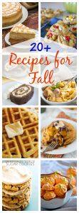 20 Best Fall Recipes