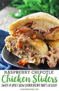 Raspberry Chipotle Chicken Sliders