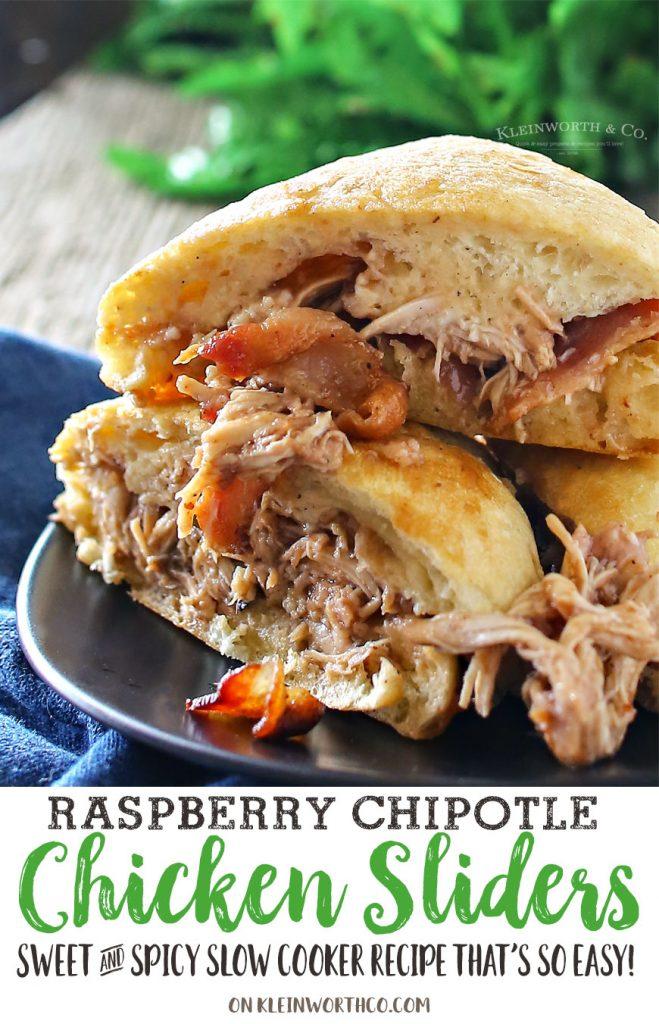 Raspberry Chipotle Chicken Sliders
