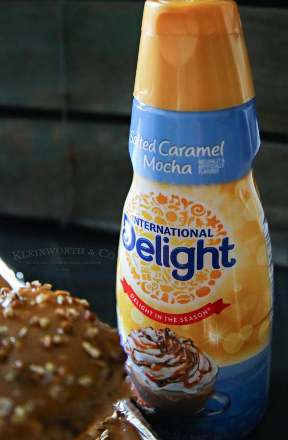 Salted Caramel Mocha Sheet Cake
