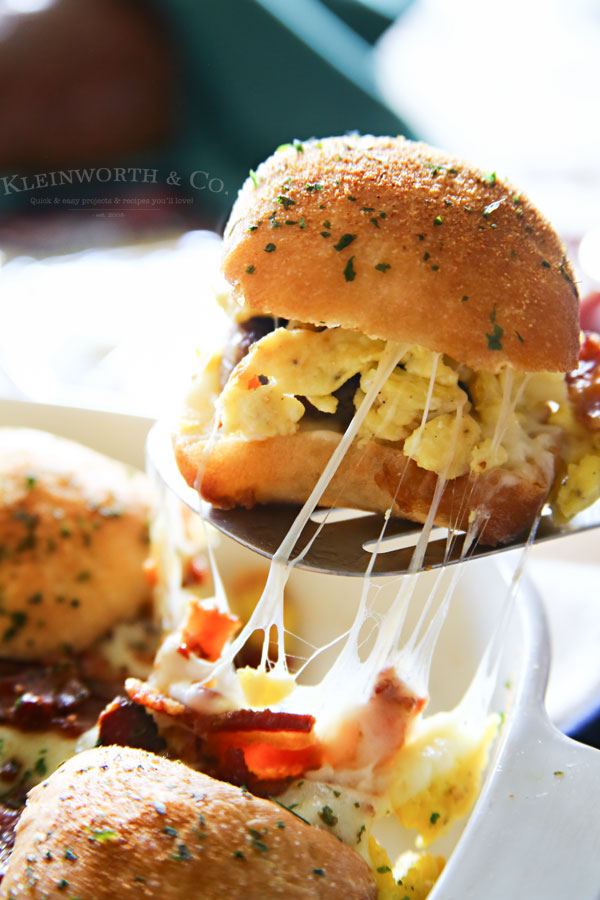 Sausage Egg Bacon Cheese Breakfast Sliders