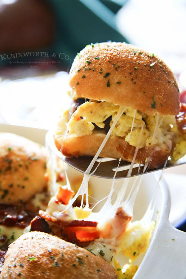 Sausage Egg Bacon Cheese Breakfast Sliders