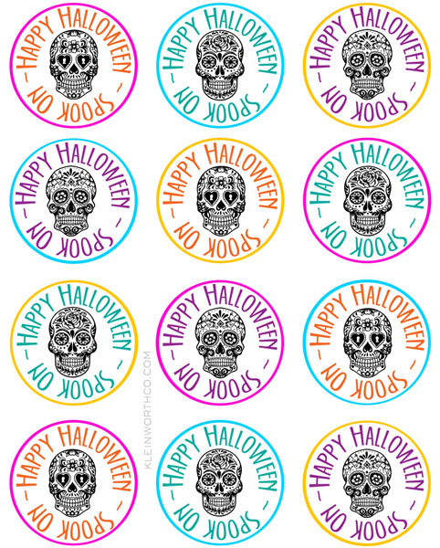 Sugar skull printable gift tag goodie bags kleinworth co sugar skull printable gift tag goodie bags negle Images