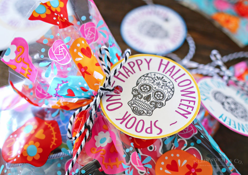Sugar Skull Party Favors Printable Sugar Skull Birthday Goodie Bag Label Day of the Dead candy loot bag Girls Birthday treat bag topper