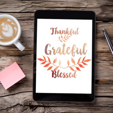 Thankful Grateful Blessed Free Digital Wallpaper