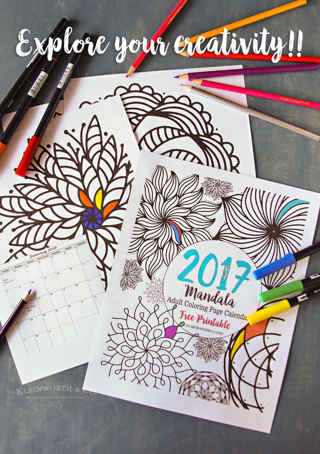 2017 Mandala Adult Coloring Page