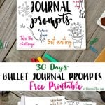 30 Days Bullet Journal Prompts Free Printable