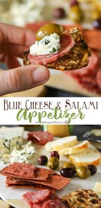 Blue Cheese Salami Appetizer