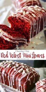 Chocolate Chip Red Velvet Mini Loaves