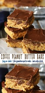 Coffee Peanut Butter Bars