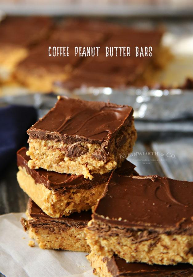 Coffee Peanut Butter Bars