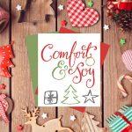 Comfort & Joy Free Holiday Printable