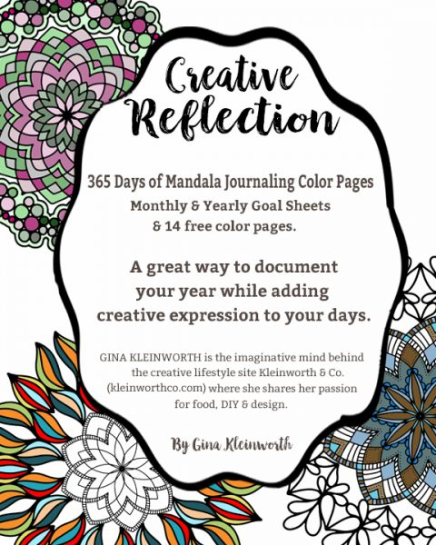 Creative Reflection 365 Days Of Journaling Color Pages