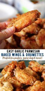 Garlic Parmesan Wings & Drumettes