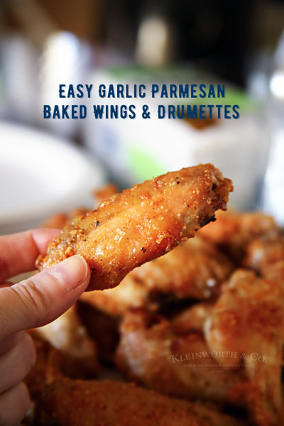 Garlic Parmesan Wings & Drumettes