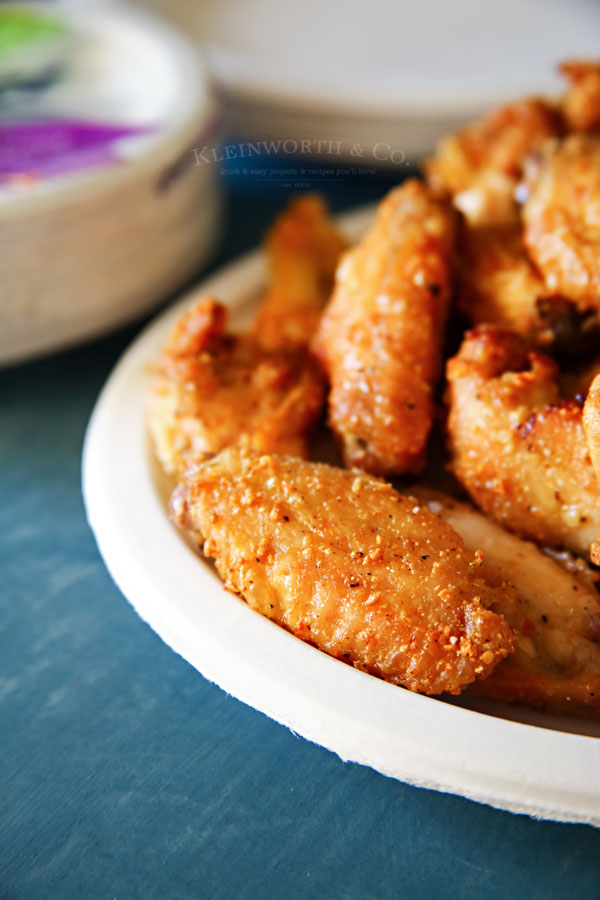 Garlic Parmesan Chicken Wings & Drumettes