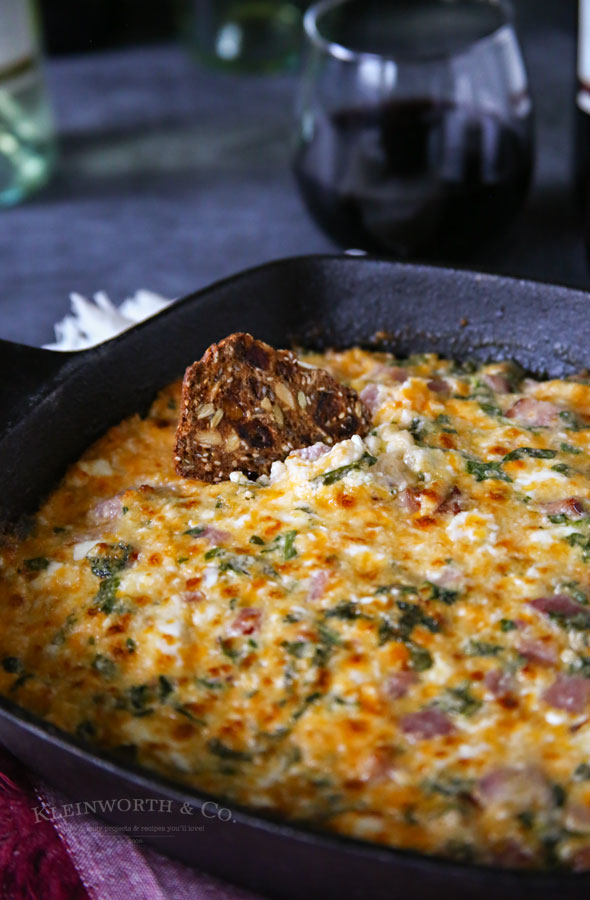 Ham & Cheese Hot Spinach Dip