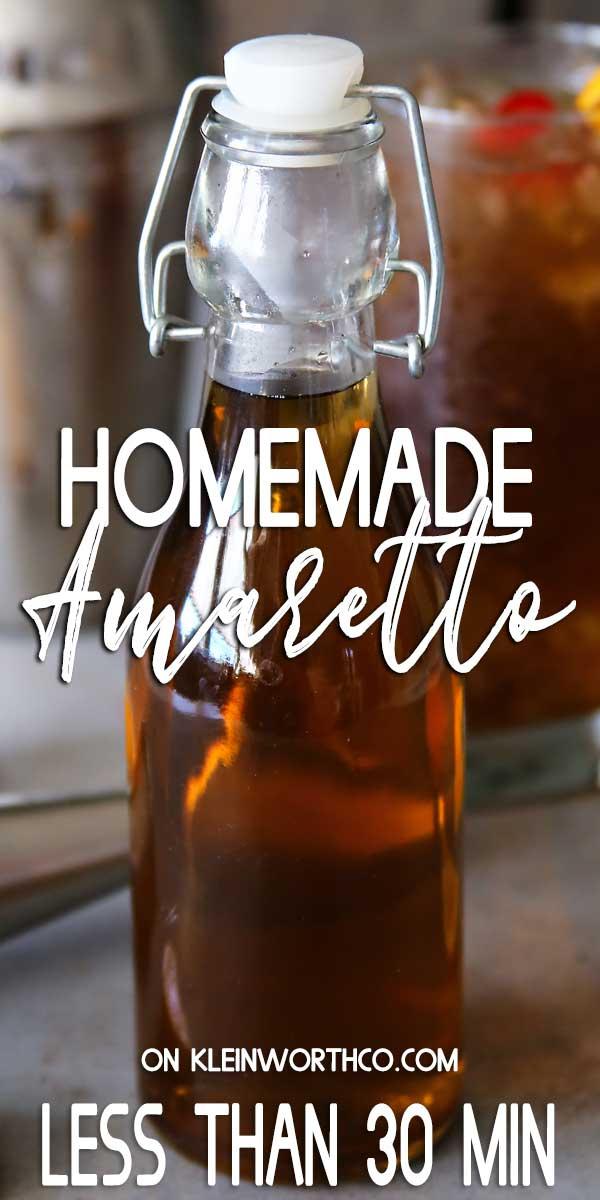 Homemade Amaretto Recipe