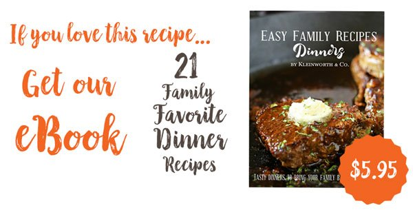 Easy Family Recipes Dinners eBook