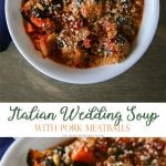 Italian Wedding Soup with Pork Meatballs